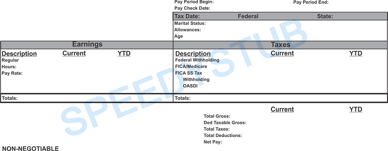 Paycheck Stubs Employment Verification Check Stubs Proof Of Income - Subcontractor pay stub template