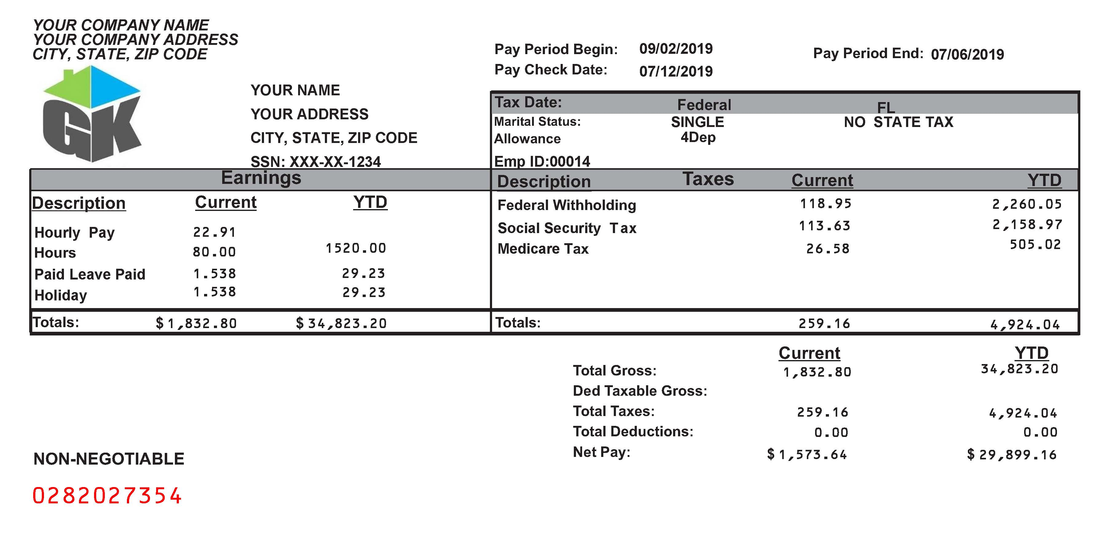 Paycheck Stubs, Employment Verification, & Proof of Income, for